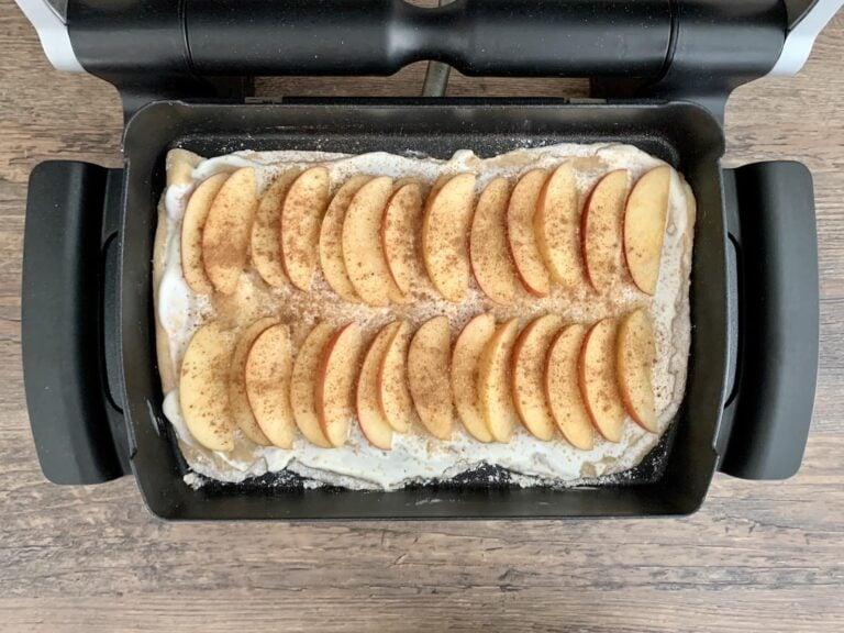 Apfel Zimt Flammkuchen Backschale backen