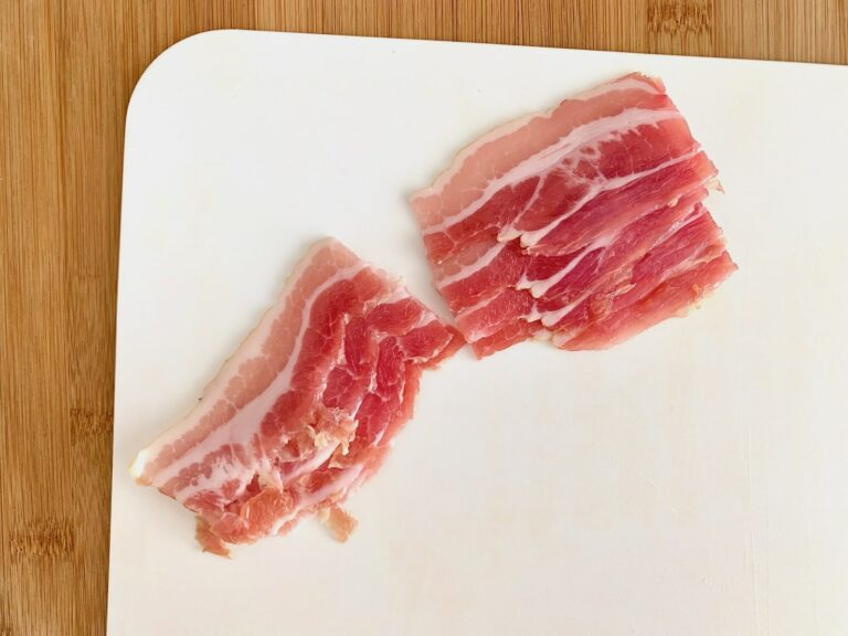 Bacon schneiden