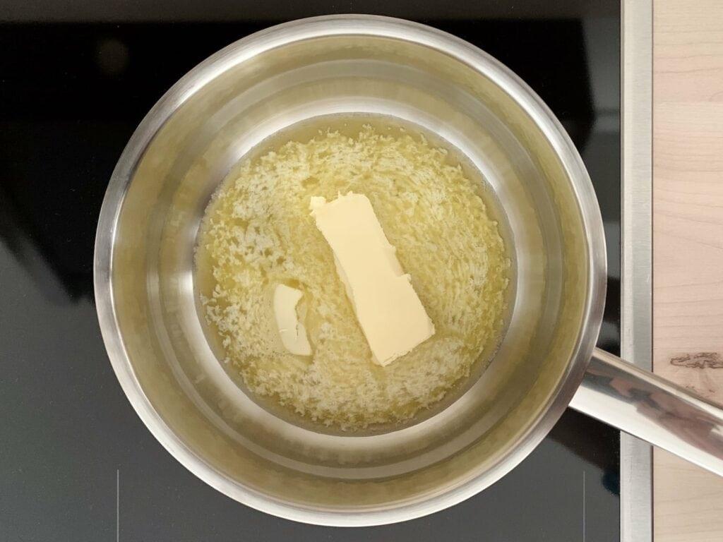 Butter Topf schmelzen