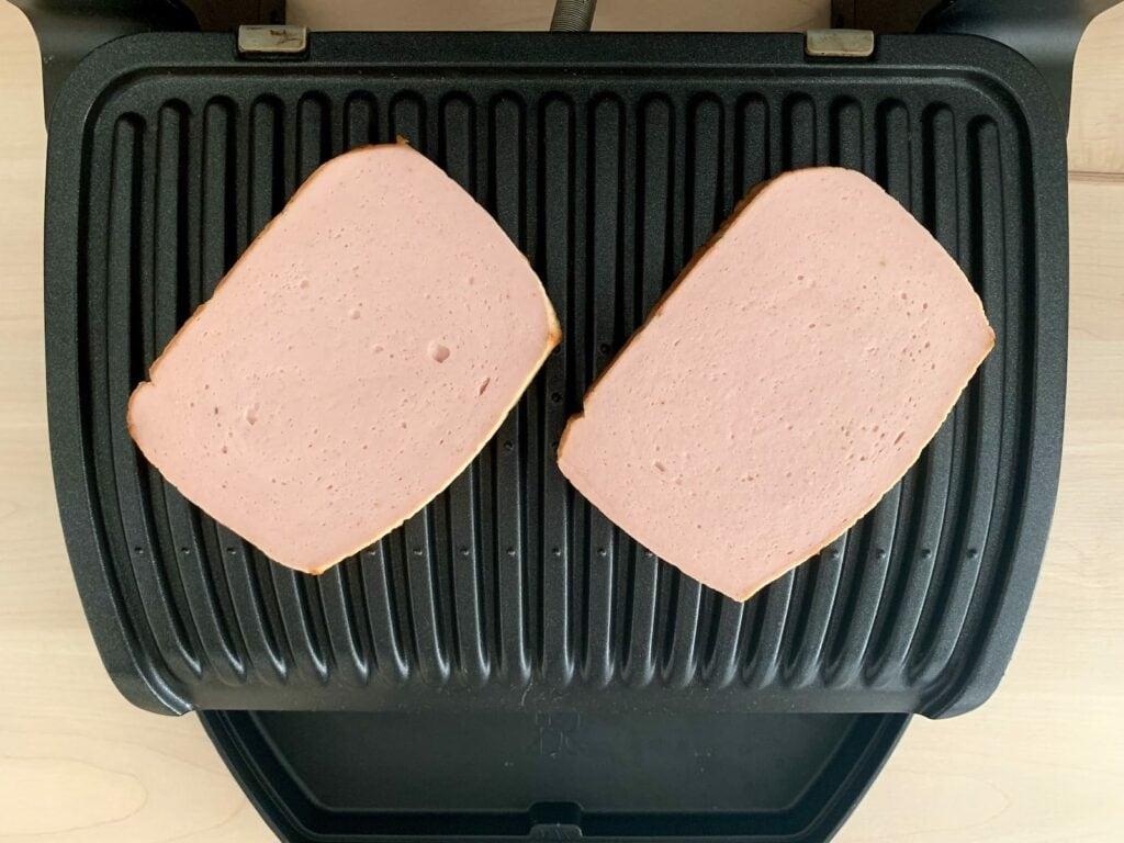 Fleischkäse OptiGrill grillen 2