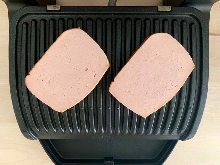 Fleischkäse OptiGrill grillen