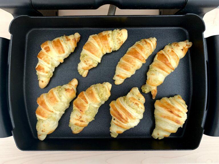 Gebackene Croissants OptiGrill Backschale