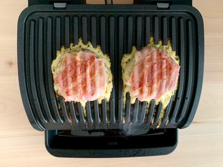 Gegrillte Burger Käse Bacon