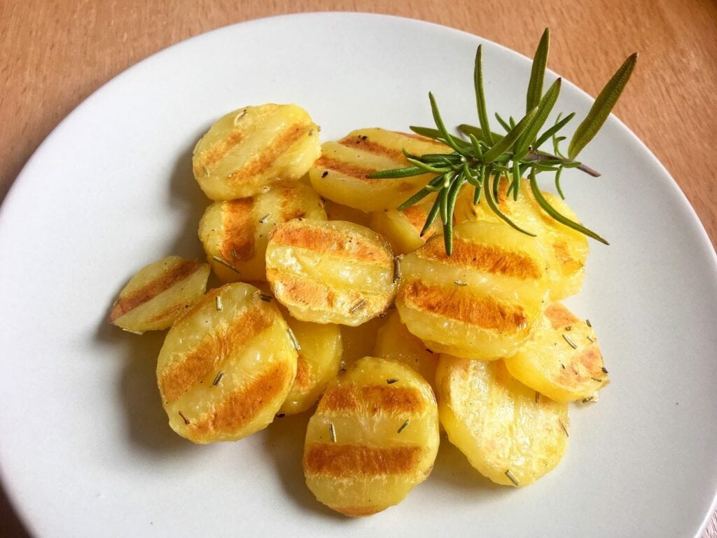 Gegrillte Kartoffeln Kontaktgrill