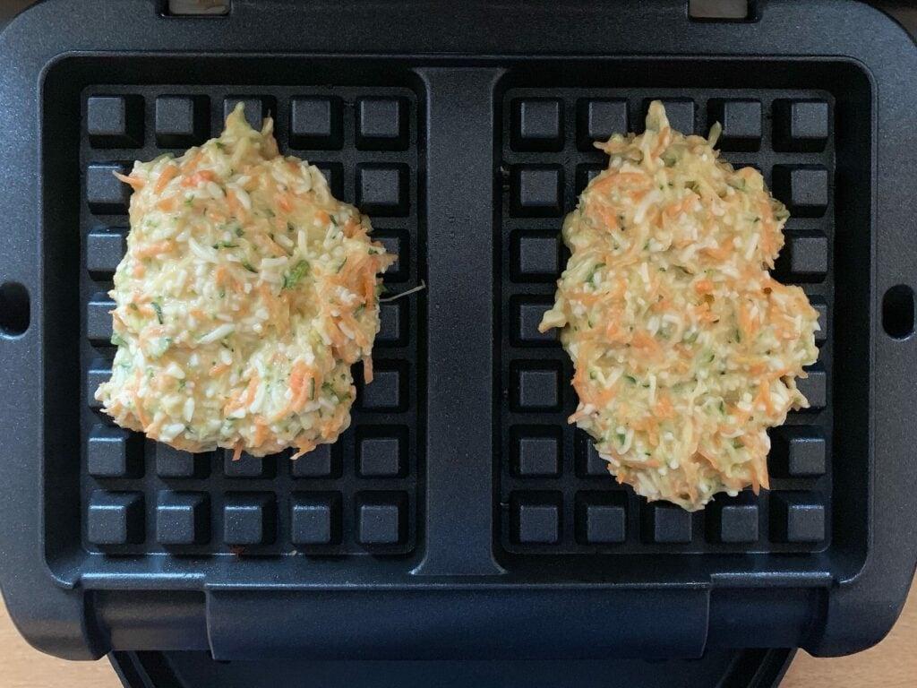 Gemüse Rösti Teig Waffeleinsatz