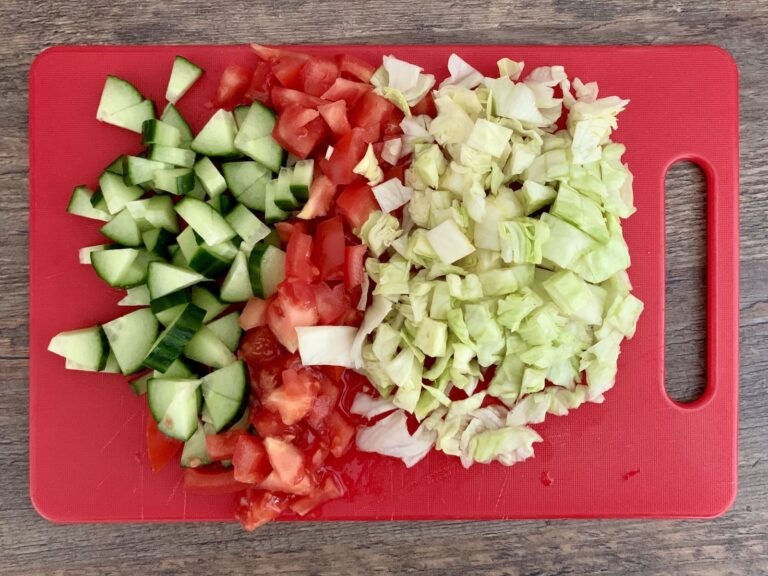 Gemüse Wraps zubereiten