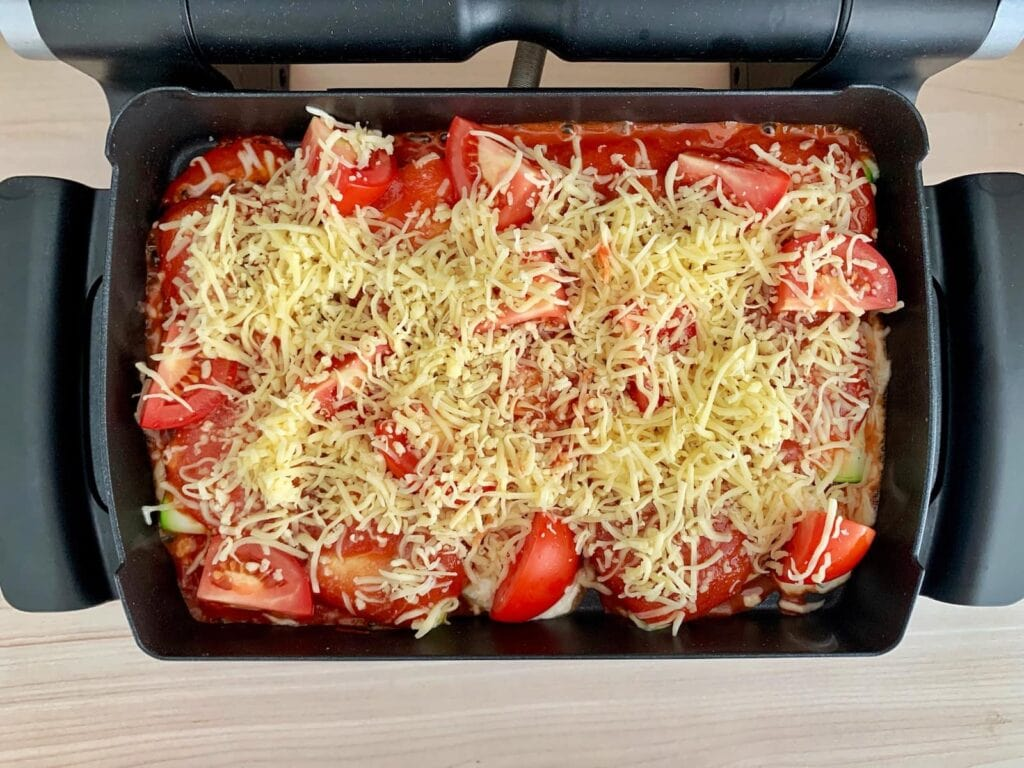 Geriebener Käse Zucchini Ravioli