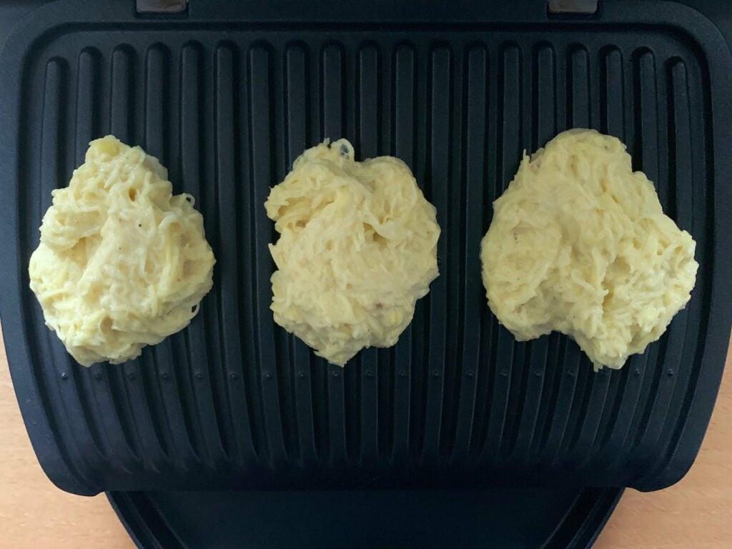 Kartoffel Puffer Teig Kontaktgrill