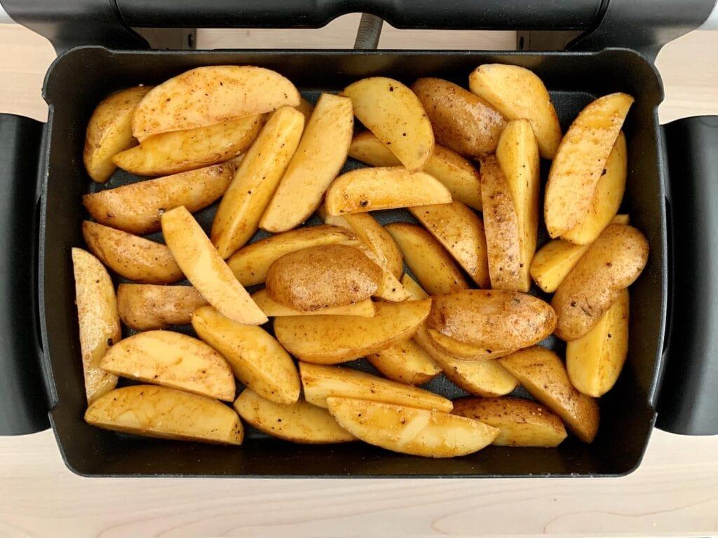 Kartoffel Wedges OptiGrill Backschale backen