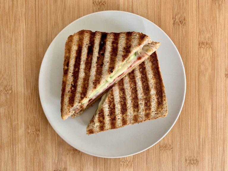 Kontaktgrill Rezept Fleischkäse Käse Sandwich