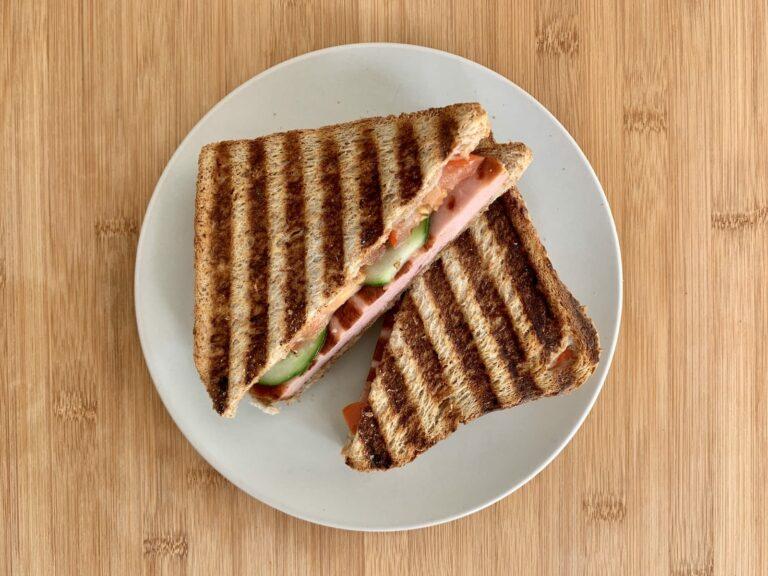 Kontaktgrill Rezept Fleischkäse Sandwich