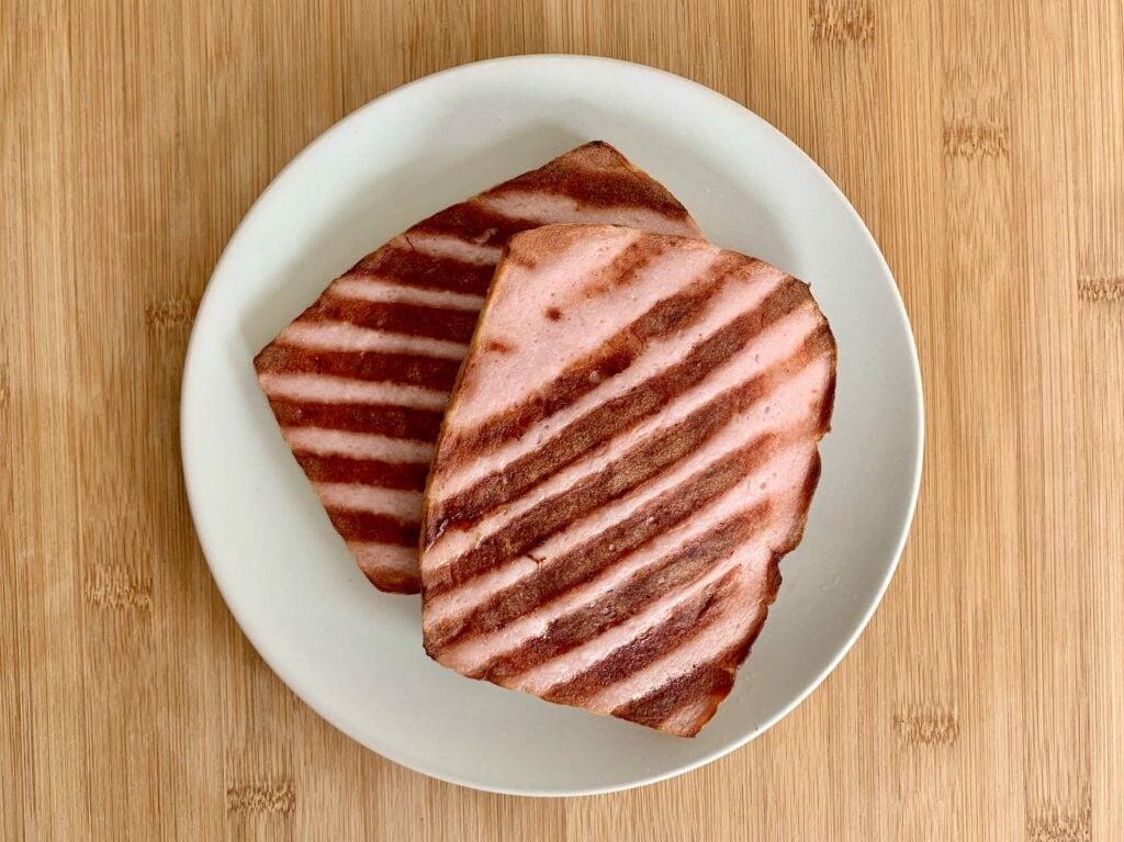 Kontaktgrill Rezept Fleischkäse grillen
