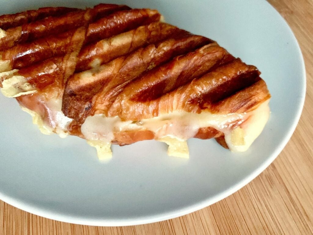Kontaktgrill Rezept Gegrilltes Käse Croissant