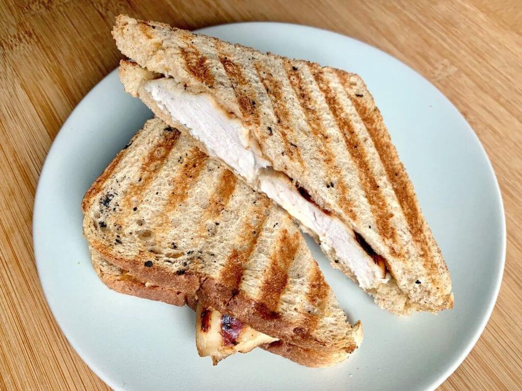 Kontaktgrill Rezept Hähnchen Sandwich