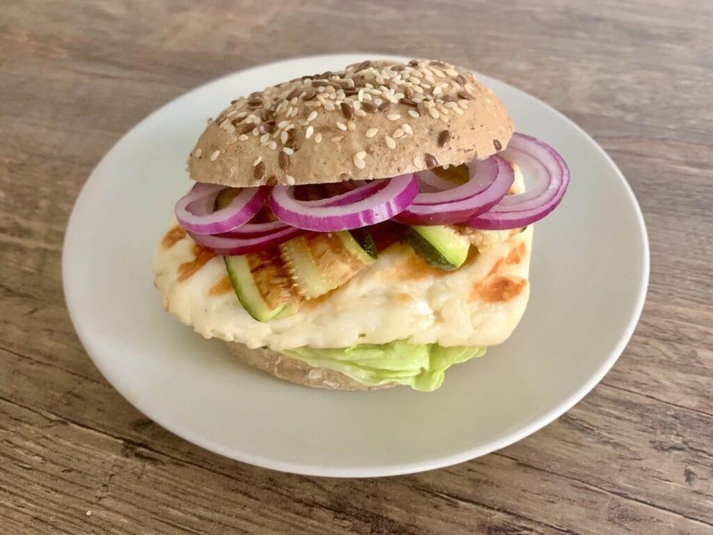 Kontaktgrill Rezept Halloumi Burger