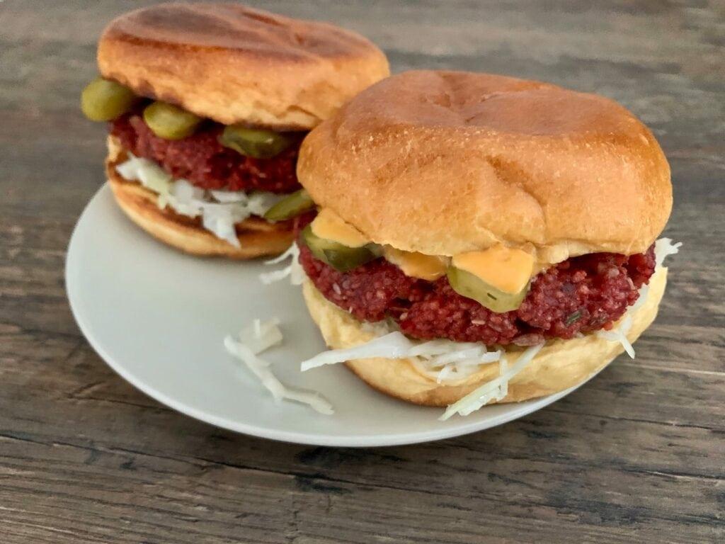 Kontaktgrill Rezept Rote Bete Burger