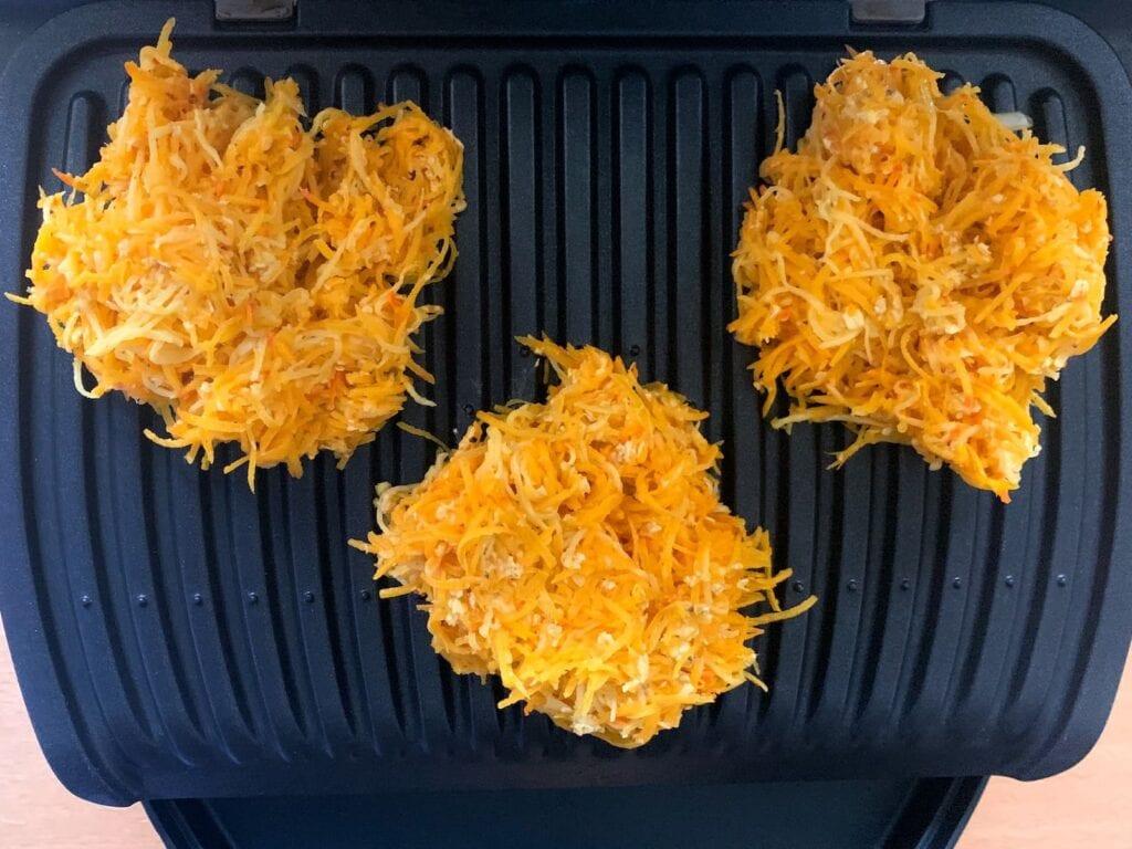 Kürbis Kartoffel Puffer OptiGrill grillen