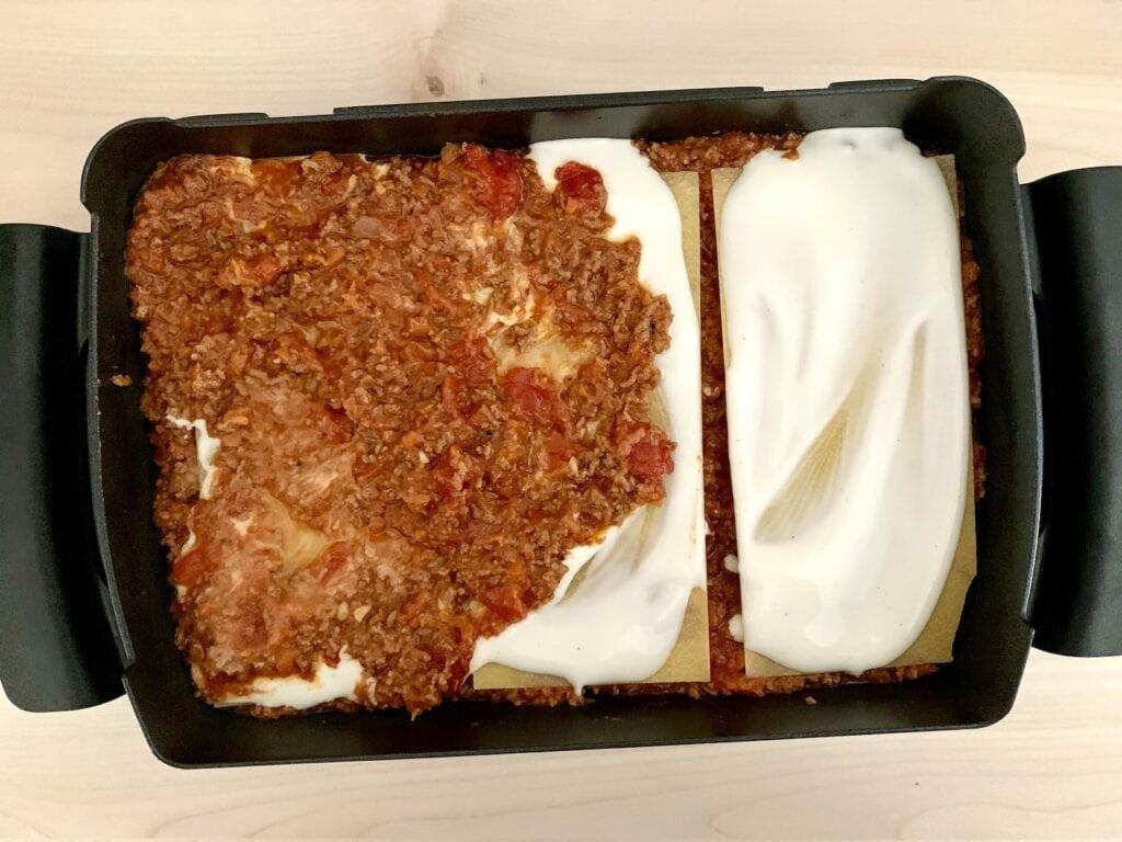 Lasagne Backschale zubereiten