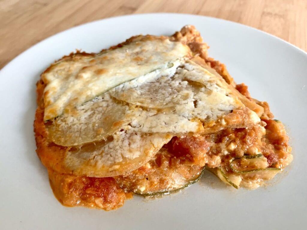 OptiGrill Backschale Rezept Kartoffel Zucchini Lasagne