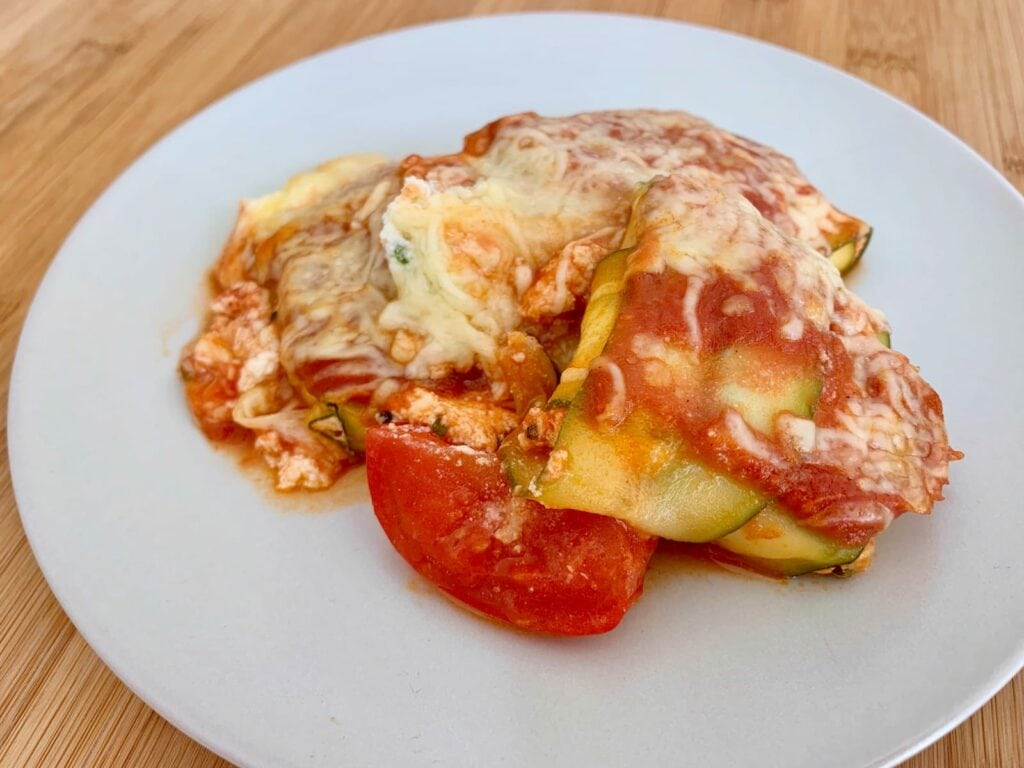 OptiGrill Backschale Rezept Zucchini Ravioli Parmesan Ricotta Füllung