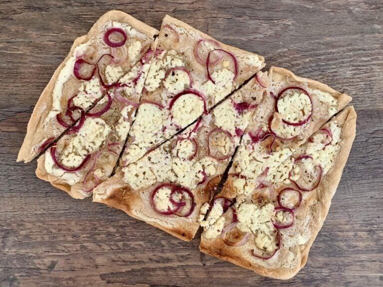 OptiGrill Backschale Rezepte Ziegenkaese Flammkuchen