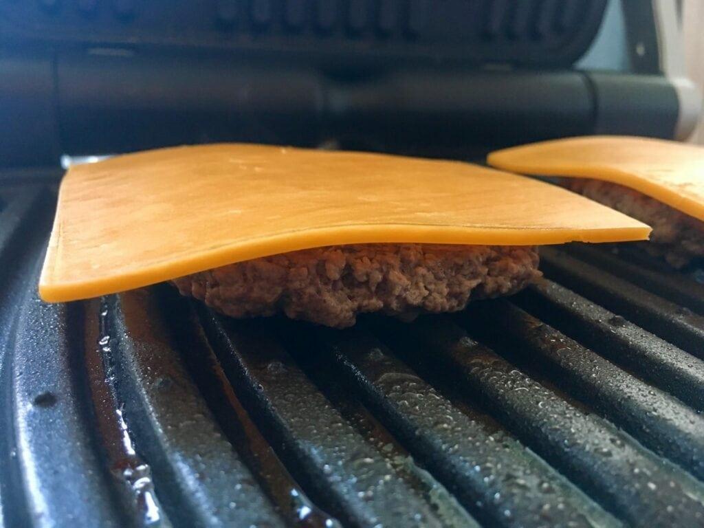 OptiGrill Cheddar Kaese Hamburger Patties