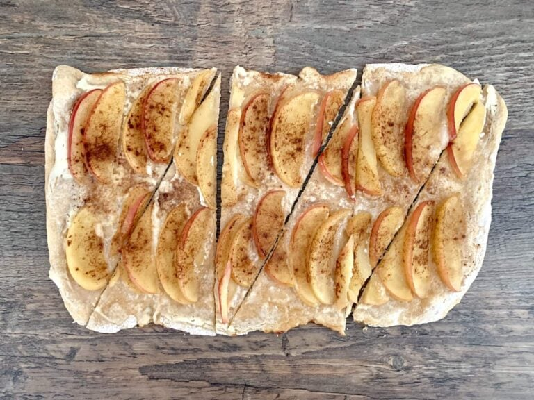 OptiGrill Rezept Apfel Zimt Flammkuchen