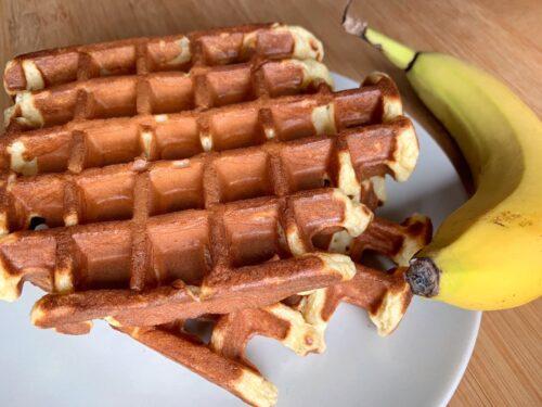 Banane-Skyr-Waffeln