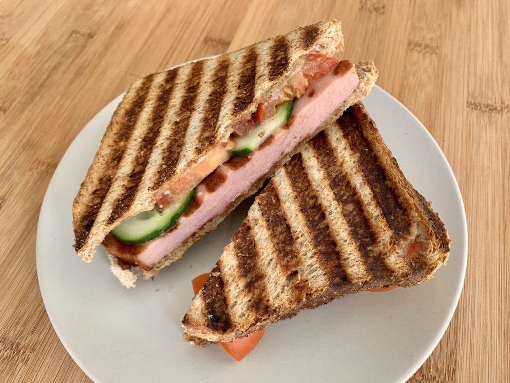 OptiGrill Rezept Fleischkäse Sandwich