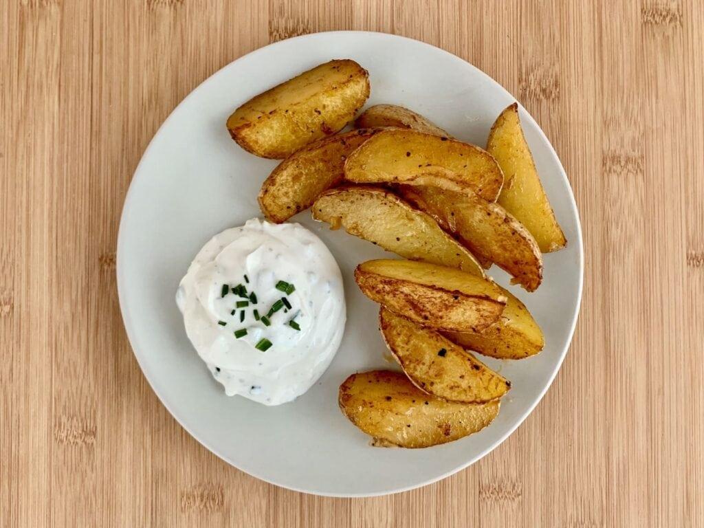 OptiGrill Rezept Kartoffel Wedges Sour Cream