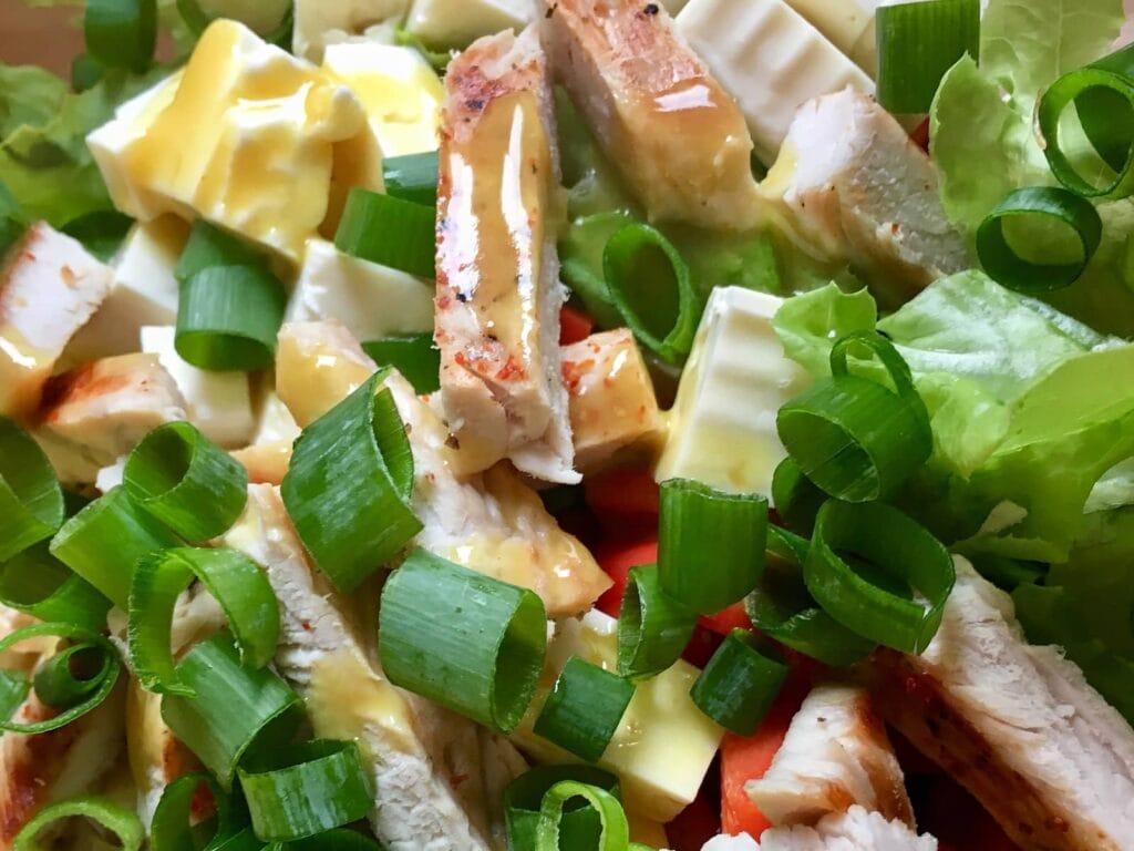 OptiGrill Rezept Salat mit gegrillten Putenbrust Streifen