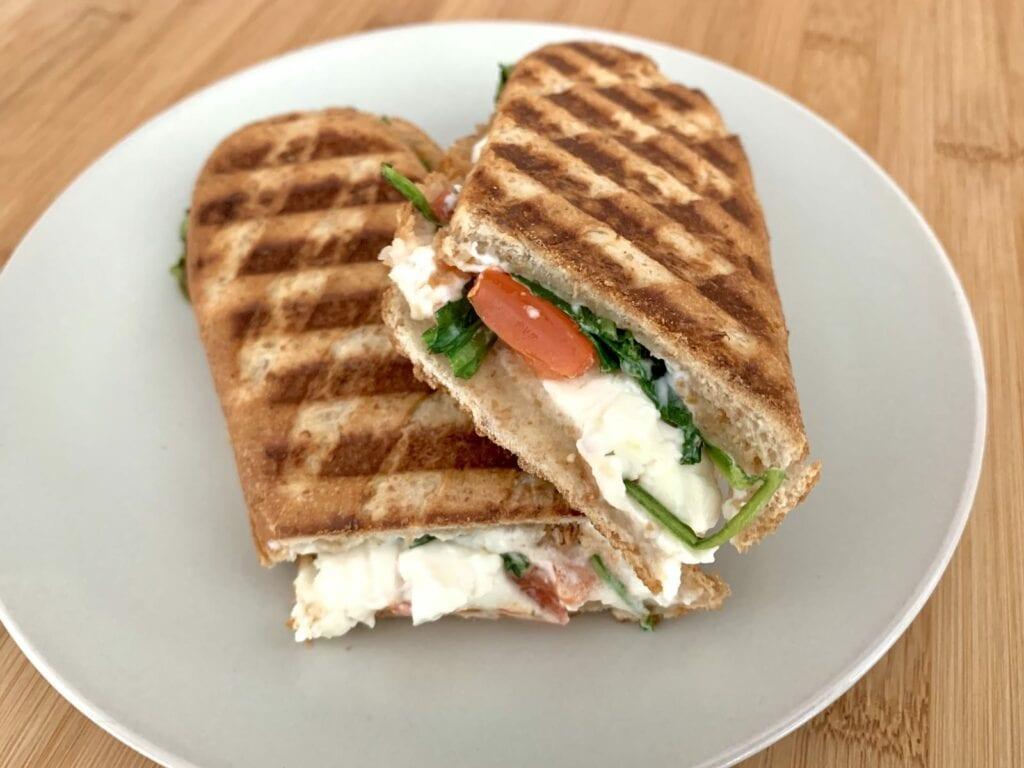 OptiGrill Rezept Tomate Feta Sandwich
