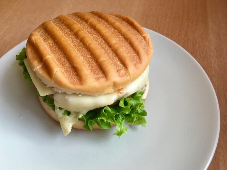 OptiGrill Rezept Vegetarischer Cheeseburger