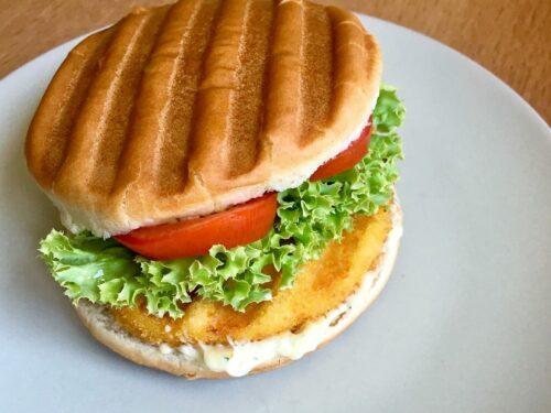 Vegetarischer Schnitzel-Burger
