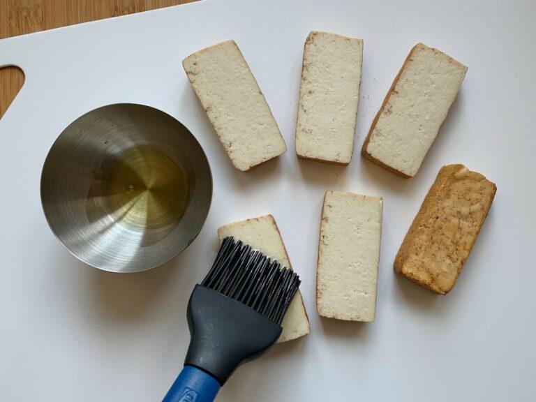 Tofu Öl bestreichen