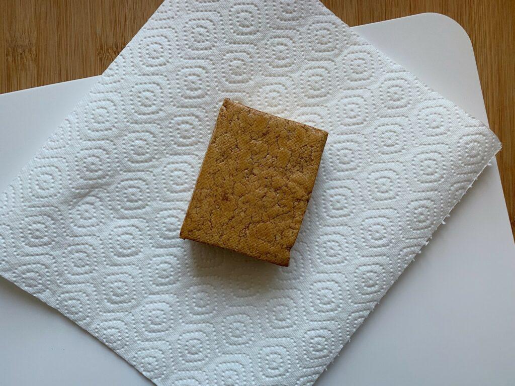 Tofu trocken tupfen