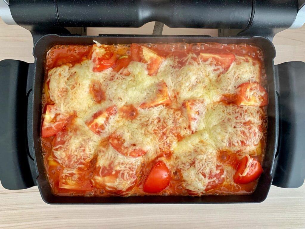 Zucchini Ravioli OptiGrill Backschale backen