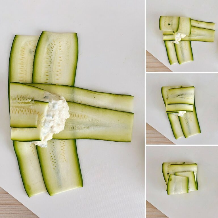 Zucchini Ravioli falten