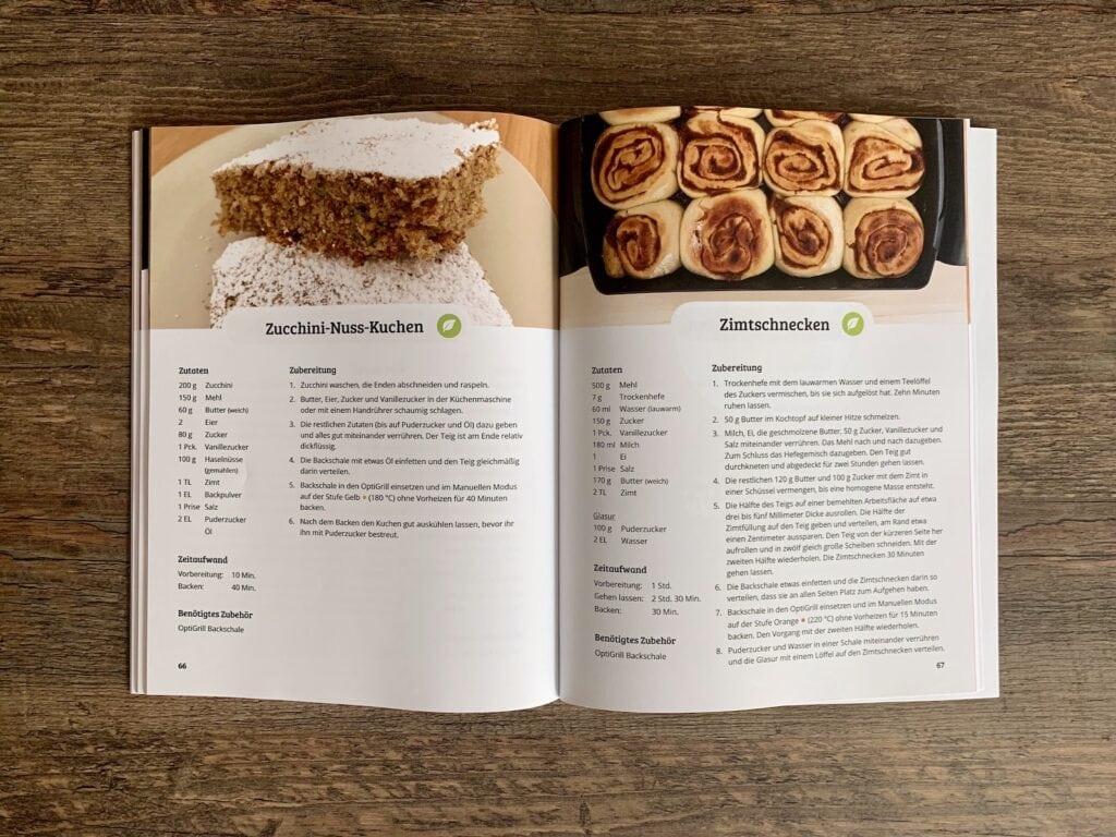 OptiGrill Rezeptbuch: Kuchen und Desserts