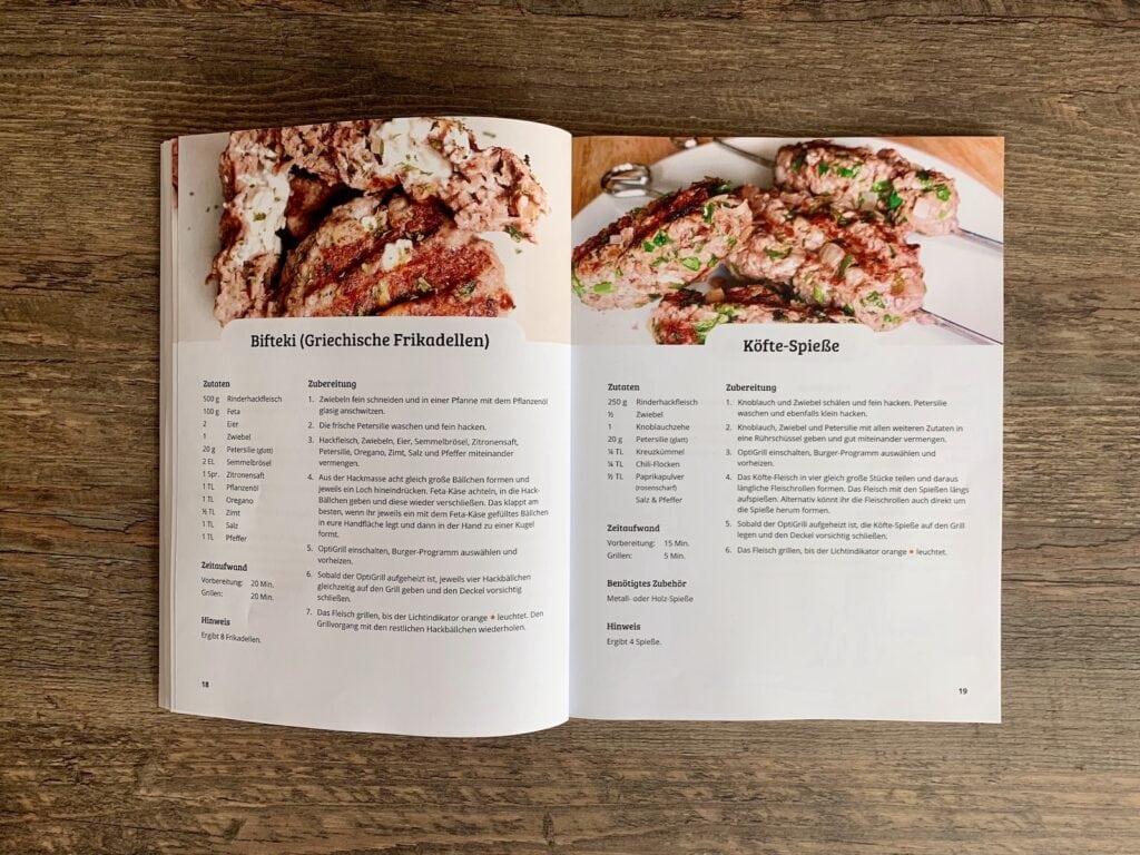 OptiGrill Rezeptbuch: Rezepte mit Fleisch