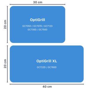 Größenvergleich OptiGrill Modelle