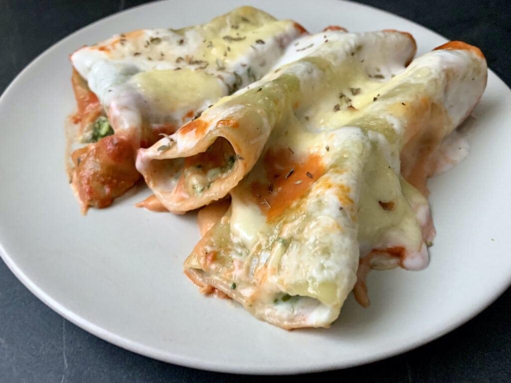 OptiGrill Backschale Rezept: Cannelloni mit Spinat und Ricotta Füllung