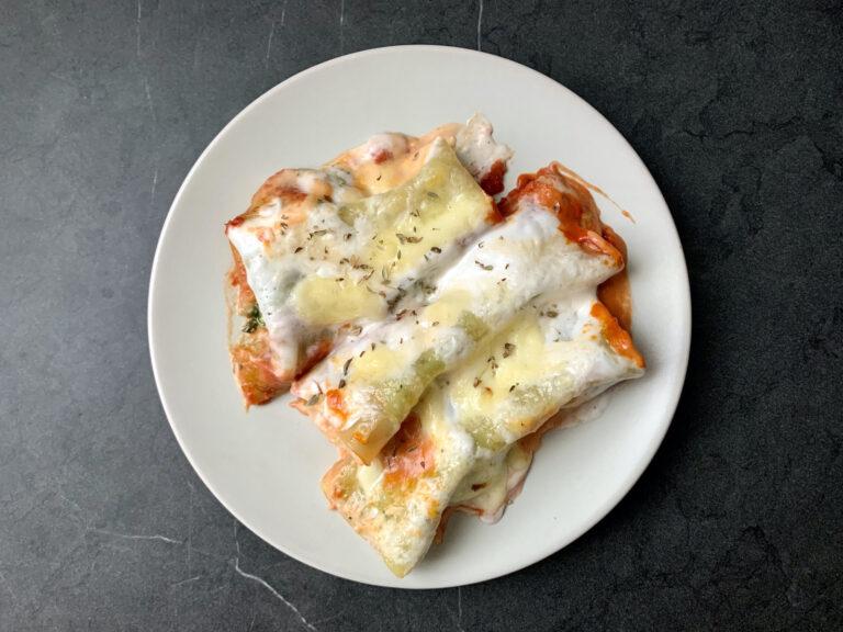 OptiGrill Rezept: Cannelloni mit Spinat und Ricotta