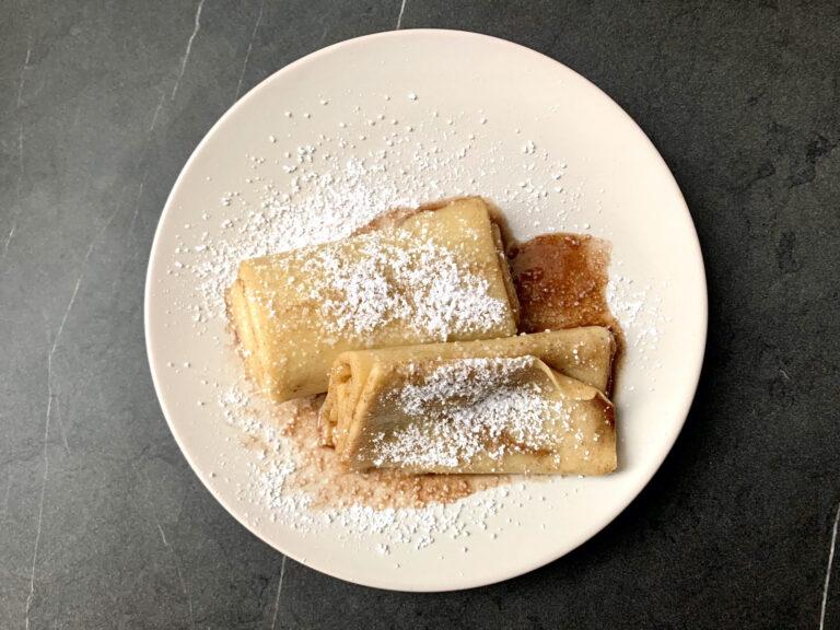 OptiGrill Backschale Rezept: Pfannkuchen-Rolle mit Zimt und Zucker