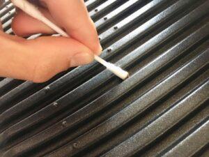 OptiGrill Grillplatten Wattestäbchen reinigen