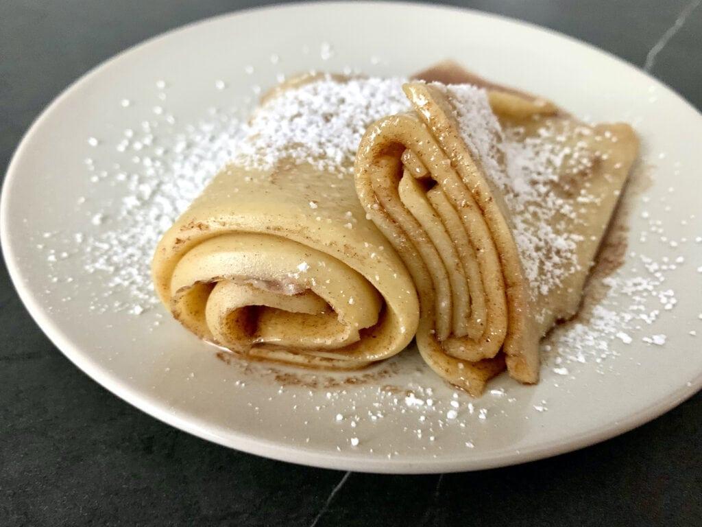 OptiGrill Rezept: Pfannkuchen-Rolle mit Zimt und Zucker