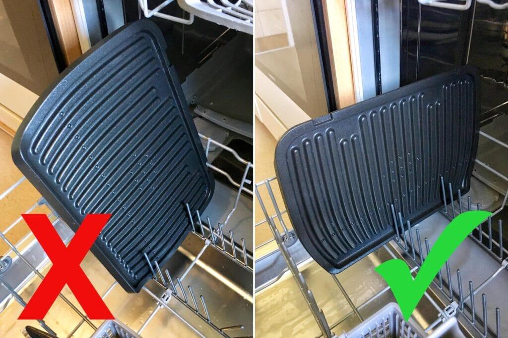 OptiGrill Zubehör reinigen: Spülmaschine Platten quer