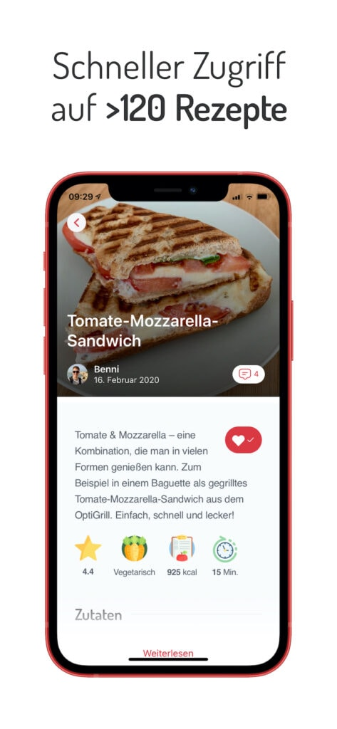 OptiWelt OptiGrill App Screen Galerie 1